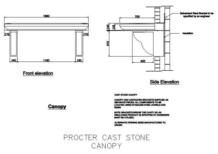 Fastrackcad Procter Cast Stone Cad Details