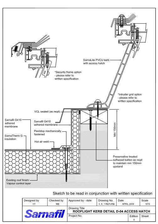 Sarnafil details roofing details best roof 2017 roof access hatch cad details aurora roofing contractors sciox Images
