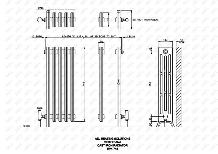 Fastrackcad ybs insulation limited cad details for Radiador dwg