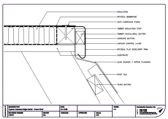 Fastrackcad hambleside danelaw ltd cad details for Mansard roof section