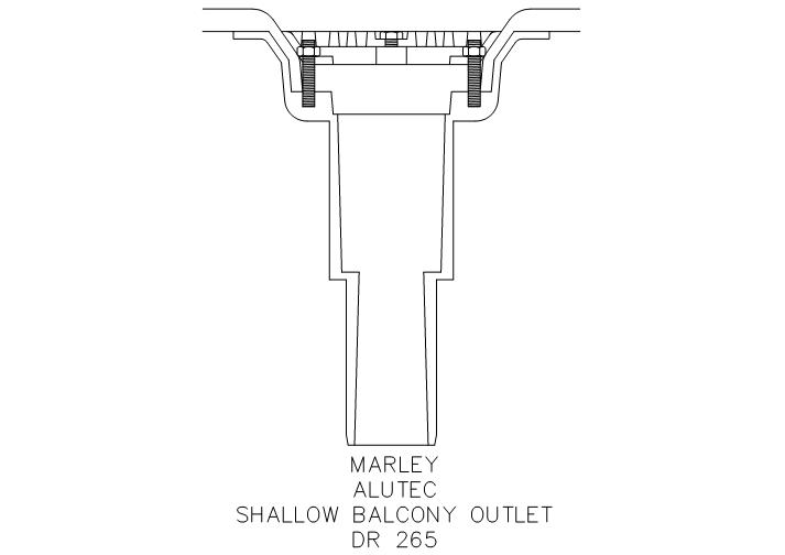 Fastrackcad marley plumbing drainage rainwater for Balcony outlet